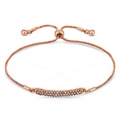 Jon Richard - Rose gold pave bar toggle bracelet