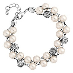 Jon Richard - Pearl and pave ball bracelet