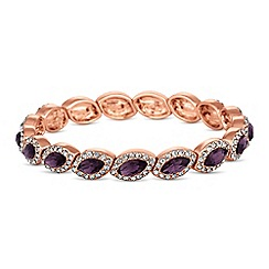 Jon Richard - Purple crystal navette bracelet
