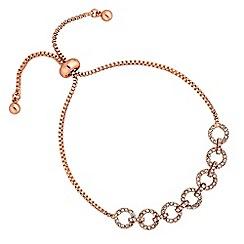 Jon Richard - Rose gold pave circle toggle bracelet