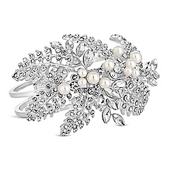 Alan Hannah Devoted - Designer silver autumn leaf statement bracelet