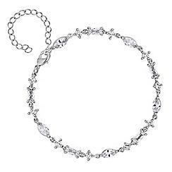 Jon Richard - Silver crystal delicate bracelet