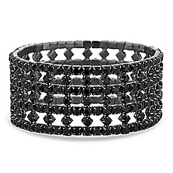 Jon Richard - Jet diamante stretch bracelet