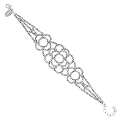 Jon Richard - Silver diamante lace bracelet