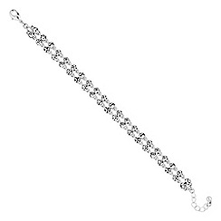 Jon Richard - Silver crystal double row bracelet