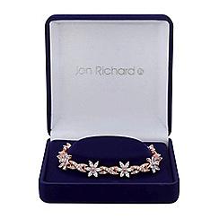 Jon Richard - Rose gold floral leaf bracelet