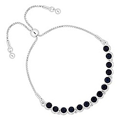 Jon Richard - Blue crystal toggle bracelet