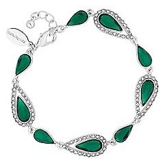 Jon Richard - Crystal surround peardrop bracelet