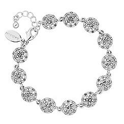 Jon Richard - Silver crystal filigree bracelet