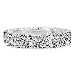 Jon Richard - Silver crystal cluster bracelet
