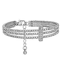 Jon Richard - Diamante triple row bracelet