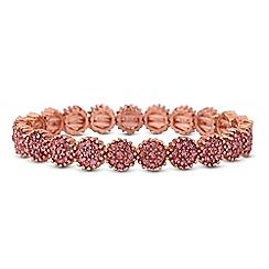 Jon Richard - Pink crystal floral bracelet