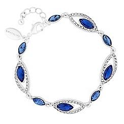 Jon Richard - Diamante open navette bracelet