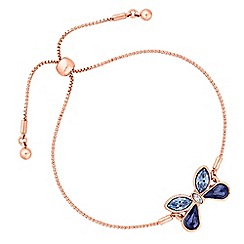 Jon Richard - Butterfly toggle bracelet created with swarovski crystals