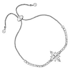 Jon Richard - Cubic zirconia flower diamante toggle bracelet