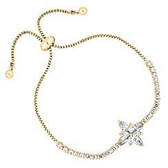 Jon Richard - Cubic zirconia floral toggle bracelet