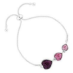 Jon Richard - Graduated heart bracelet created with swarovski crystals