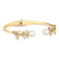 Alan Hannah Devoted - Designer navette twist pearl bangle