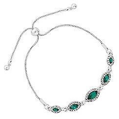 Jon Richard - Crystal navette toggle bracelet