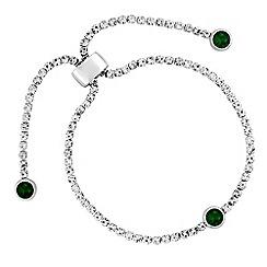 Jon Richard - Diamante toggle bracelet