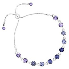Jon Richard - Tonal purple toggle bracelet created with swarovski crystals