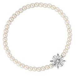 Jon Richard - Cubic zirconia flower pearl bracelet