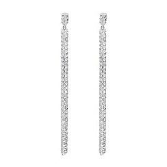 J by Jasper Conran - Designer sterling silver angular long earrings