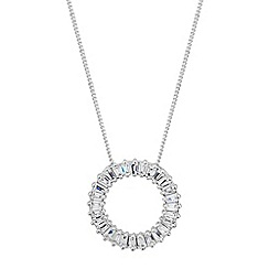 J by Jasper Conran - Designer sterling silver circle necklace