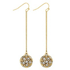 Lipsy - Pave crystal ball earrings