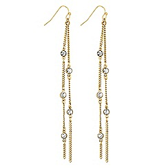 Lipsy - Crystal chain drop earrings