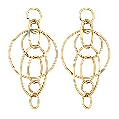 Lipsy - Interlocking circle drop earrings