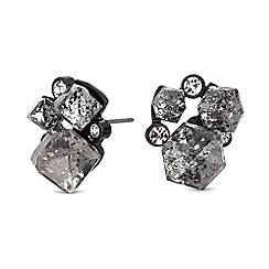 Lipsy - Geometric crystal cluster earrings