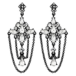 Lipsy - Crystal draped chandelier earrings