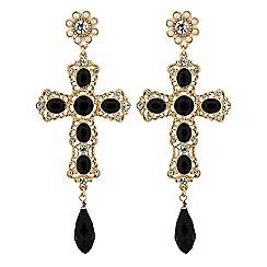 Lipsy - Statement cross earrings