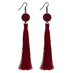 Lipsy - Crystal orb tassel earrings