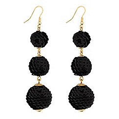 Lipsy - Sequin graduated ball drop earrings