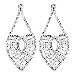 Lipsy - Crystal chainmail statement earrings