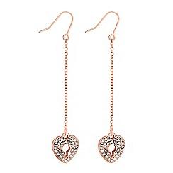 Lipsy - Crystal heart padlock earrings