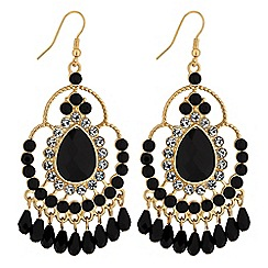 Lipsy - Crystal and bead drop earrings