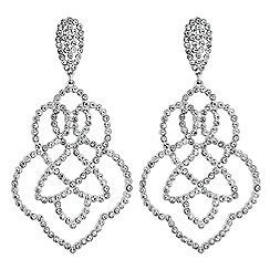 Lipsy - Statement crystal filigree earrings