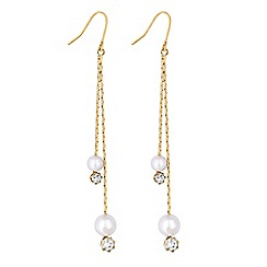 Lipsy - Pearl and crystal multi drop earrings