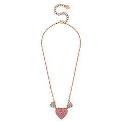 Lipsy - Crystal pave heart necklace