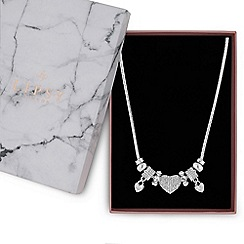 Lipsy - Crystal pave charm gift necklace