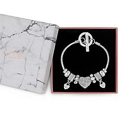 Lipsy - Crystal pave charm gift bracelet