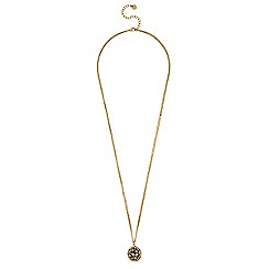 Lipsy - Pave crystal long ball necklace