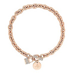 Lipsy - Pave crystal padlock chain necklace