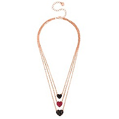 Lipsy - Multi tone heart drop necklace