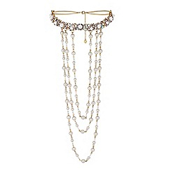 Lipsy - Statement layered pearl choker necklace
