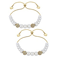 Lipsy - Pearl toggle bracelet set