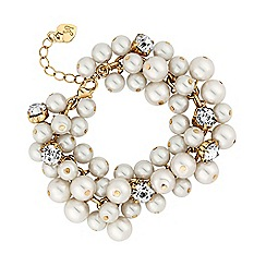 Lipsy - Pearl and crystal cluster bracelet